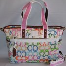 NEW 2007 SCRIBBLE LARGE TOTE/DIAPER BAG
