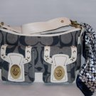 DENIM NYC SHOULDER HANDBAG W/ SCARF