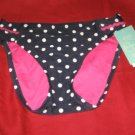 Aqua Swimsuit Bikini Bottom Navy Blue With White Polka Dots SZ  X- Small NWT $44