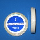 "SUPERTAPE TRUE BLUE LACE TAPE 1/4"" x 3YD ROLL~Hair Extensions"