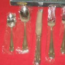 ROBERTS & BELK 18/10 STAINLESS GOLD ACCENT TRIAD 5PC PL.SET DISCONTINUED NIB..