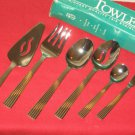 TOWLE IONIC 18/8 STAINLESS STEEL 6-PIECE HOSTESS SET MADE IN KOREA NEW IN BOX.