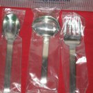 "REED & BARTON LUXURY 18/8 STAINLESS ""TENOR"" 3PC SERVING SET NEW IN BOX."