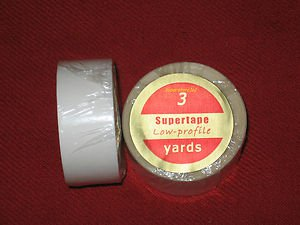 """SuperTape Low Profile 3/4""""x3 Yard Roll Tape Non Glare~ Lace Wigs Hair Extensions"""
