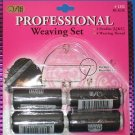 "WEFT WEAVE""PROFESSIONAL""3-Needles[I,J,&C]4-Weaving Thread BLACK~HAIR EXTENSIONS."