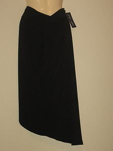 ANNE COLE COLLECTION BATHING SUIT WRAP SKIRT BLACK SIZE:M NWT $70.00