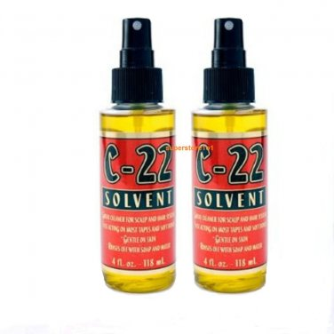 WALKER C-22 4oz.2 Bottles of.Citrus Solvent Remover ~Lace Wig & Toupee.