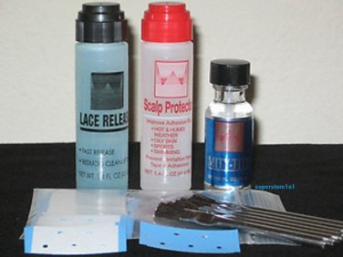 Walker 45PC Dab-on.Lace Release,Scalp Protector,MITY-TITE, Mini Extenbond &Brush
