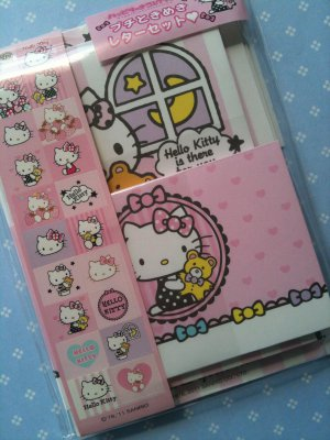 sanrio hello kitty mini letter set