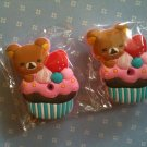 rilakkuma cupcake key covers