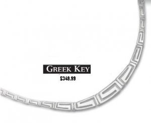 14k Greek Key Chain