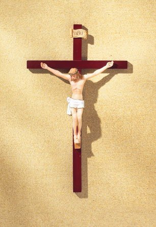 Hand-Painted Crucifix
