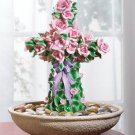 Rose-Covered Cross Water Fountain