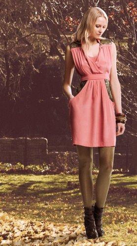 2 B Rych Sleeveless Dress with Antique Sequin Trim