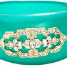 Danielle Stevens Art-Deco, Green Resin Bangle