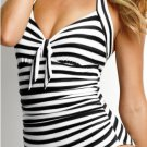 Seafolly Seaview Tie Front Halter Maillot in Black