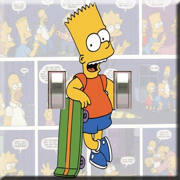 Bart Simpson Double Switchplate Cover