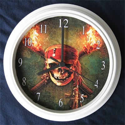 Pirates of the Carribean Decorative Wall Clock