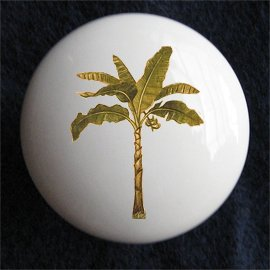 Palm Tree Tropical Ceramic Dresser/Cabinet Knob