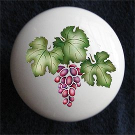 Grape Cluster Ceramic Dresser/Cabinet Knob