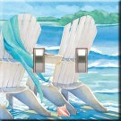 Lazy Days Beach Chairs Double Switchplate Cover