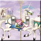Carousel Horse Double Switchplate Cover