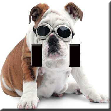 I'm Cool Bulldog Decorative Double Switchplate Cover
