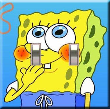 Sponge Bob Square Pants Decorative Double Switchplate Cover