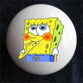 Sponge Bob Square Pants Decorative Ceramic Knob