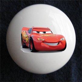 Lightning McQueen Decorative Ceramic Knob