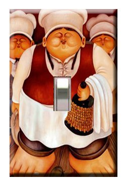 3 Fat Chefs Switchplate Cover