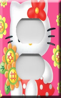 Hello Kitty in Pink Handcrafted Outlet Cover