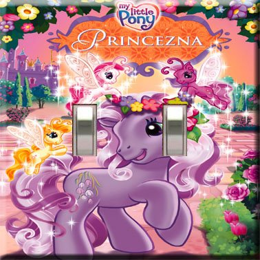 My Little Pony Handcrafted Double Switchplate Cover