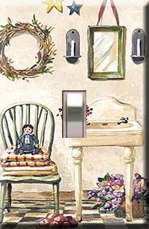 Old Fashioned Bathroom Handcrafted Single Switchplate Cover