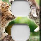 Playful Kittens Handcrafted Outlet Cover