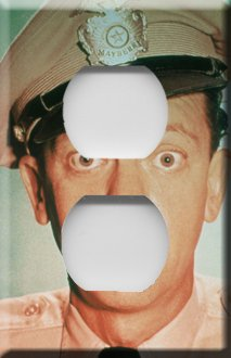 Barney Fife Handcrafted Outlet Cover