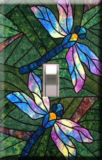 Dragonflies Handcrafted Single Switchplate Cover