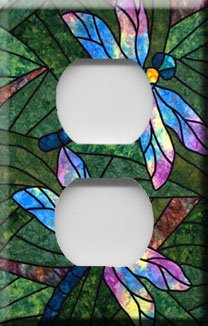 Dragonflies Handcrafted Outlet Cover