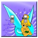 Mad Tinkerbell Handcrafted Double Switchplate Cover