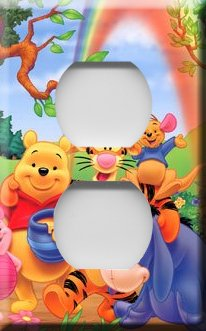 Winnie the Pooh & Friends Handcrafted Outlet Cover