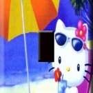 Hello Kitty on the Beach Handcrafted Single Switchplate Cover