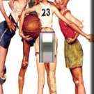 Norman Rockwell Basketball Handcrafted Single Switchplate Cover