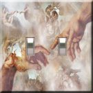 Michaelangelo Handcrafted Double  Switchplate Cover