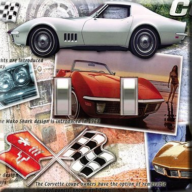 Corvettes Handcrafted Double Switchplate Cover