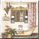 Country Bath Tub Handcrafted Double Switchplate Cover