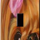 Precious Yorkie Handcrafted Single Switchplate Cover