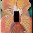Hibiscus Painting Handcrafted Single Switchplate Cover