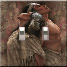 Eternal Love Handcrafted Double Switchplate Cover