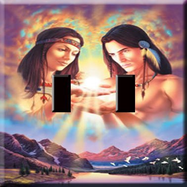 Light of Love Handcrafted Double Switchplate Cover