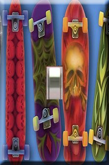 Skateboards Handcrafted Single Switchplate Cover